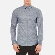 Selected Homme Men's Done Oscar Long Sleeve Shirt - Navy Blazer
