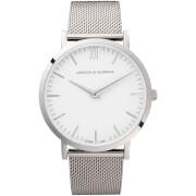 Larsson & Jennings Lugano 40mm Silver Stainless Steel Metal Watch - Silver Chain Metal
