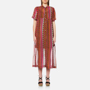 Maison Scotch Women's Drapey Longer Length Sheer Shift Dress in Bright Summer Print - Multi