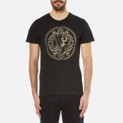 Versace Jeans Men's Large Logo Printed T-Shirt - Black