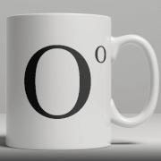 Alphabet Keramik Designer Tasse - Buchstabe O