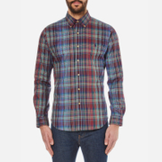 Polo Ralph Lauren Men's Long Sleeved Shirt - Blue/Wine