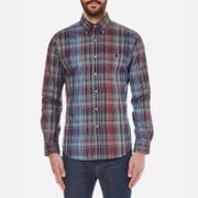 Polo Ralph Lauren Men's Long Sleeved Shirt - Blue/Wine