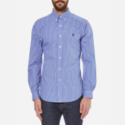 Polo Ralph Lauren Men's Long Sleeved Small Checked Shirt - Blue/White