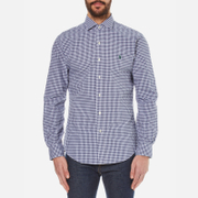 Polo Ralph Lauren Men's Long Sleeved Shirt - Navy/White