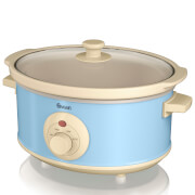 Swan SF17020BLN 3.5L Retro Slow Cooker - Blue