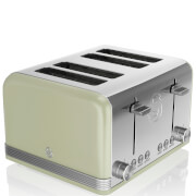 Swan 4 Slice Retro Toaster - Green