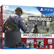 Sony PlayStation 4 Slim 1TB Console - Includes Watch Dogs and Watch Dogs 2