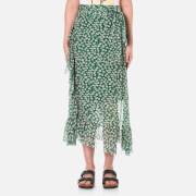 Ganni Women's Capilla Mesh Maxi Skirt - Green
