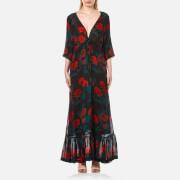 Ganni Women's Newman Georgette Maxi Dress - Black