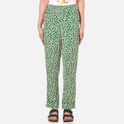 Ganni Women's Dalton Crepe Pants - Green