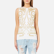 Versace Jeans Women's Knitted Tank Top - White