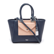Dune Women's Deanne Envelope Tote Bag - Black/Blush/Grey Snake