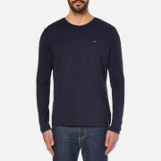 Tommy Hilfiger Men's Organic Cotton Long Sleeve T-Shirt - Navy Blazer