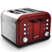 Morphy Richards 242030 Accents 4 Slice EPP Toaster - Red