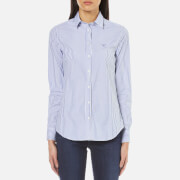 GANT Women's Broadcloth Stretch Striped Shirt - Nautical Blue