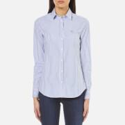 GANT Women's Broadcloth Stretch Striped Shirt - Nautical Blue