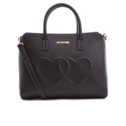 Love Moschino Women's Love Heart Embossed Tote Bag - Black