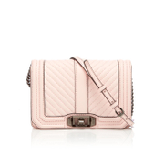 Rebecca Minkoff Women's Chevron Quilted Small Love Cross Body Bag - Soft Blush