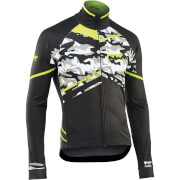 Northwave Black Jacket - Camo Yellow