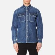 Carhartt Men's Long Sleeve Union Denim Shirt - Blue True Stone