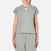 T by Alexander Wang Women's Soft French Terry Cap Sleeve Raglan Sweatshirt - Heather Grey