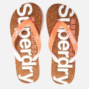 Superdry Women's Cork Colour Pop Flip Flops - Fluro Orange/Optic