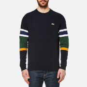 Lacoste Men's Sleeve Detail Sweatshirt - Abyssal Blue/Multico