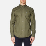 Lacoste Men's Long Sleeve Shirt - Army/Safari