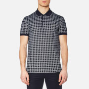 Lacoste Men's Oversized Houndstooth Printed Polo Shirt - Navy