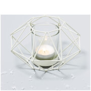 Geo Cream Candle Holder