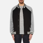 rag & bone Men's Arden Varsity Jacket - Black/Grey