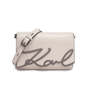 Karl Lagerfeld Women's K/Metal Signature Shoulder Bag - Travertine