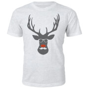 Rude Dolf Christmas T-Shirt - Grey