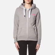 Superdry Women's Orange Label Primary Zip Hoody - Ash Snowy