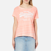 Superdry Women's Premium Goods BF T-Shirt - Candy Coral Jersey Injected White
