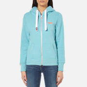 Superdry Women's Orange Label Primary Zip Hoody - Ocean Blue Marl