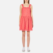 Superdry Women's Lacy Mix Skater Dress - Island Coral