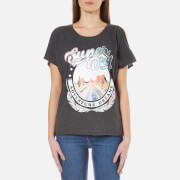 Superdry Women's Desert Nevada Shoulder T-Shirt - Charcoal