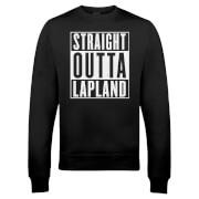 Straight Outta Lapland Christmas Sweatshirt - Black
