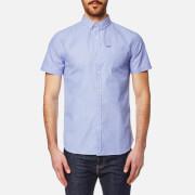 Superdry Men's Modern Classic Short Sleeve Shirt - End On End Sky Blue