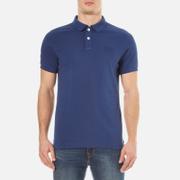 Superdry Men's Vintage Destroy Short Sleeve Piqué Polo Shirt - Dark Indigo