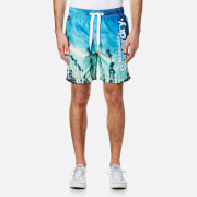 Superdry Men's Premium Neo Photo Swim Shorts - Sunset Boulevard