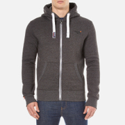 Superdry Men's Orange Label Ziphood - Low Light Black Grit