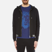 Versus Versace Men's Hoody with Branded Waistband - Black