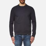 Versace Collection Men's Raised Logo Sweatshirt - Blu Scuro