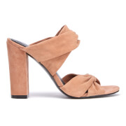 Kendall + Kylie Women's Demi Suede Double Strap Heeled Mules - Light Rust