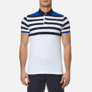 Tommy Hilfiger Men's Niels Stripe Polo Shirt - Nautical Blue/White