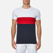 Tommy Hilfiger Men's Iggy Colour Block T-Shirt - Classic White/Mars Red