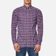 Tommy Hilfiger Men's Lance Check Long Sleeve Shirt - Dutch Navy/Sundried Tomato